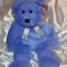 "Ty Beanie Buddy  Clubby II - 15"" Bear Light Blue Violet Purplish Color"
