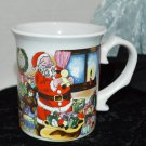 Santa Mug with Christmas Scene and Jolly old Santa on the other side