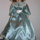 Vintage Style Porcelain Doll - Blue Dress white trim - Fire Sale