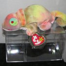 Beanie Baby Rainbow Chameleon - He is always changing moods - 1997 - Red Tongue