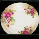 Vintage Ucagco China Saucer Pink and Mauve Roses Japan