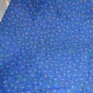 2 yds Dark Blue Material Fabric Alphbet Letters Yellow Red Green Navy Blue Cott