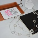 Silver Tone Metal thread metal with silver toned rings 3 Layered Necklace