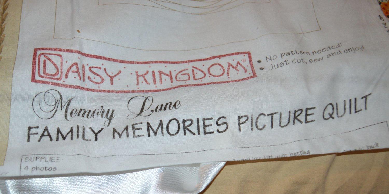"Daisy Kingdom 2 Complete Panels Memory Lane Picture Quilt 32"" x 32"""
