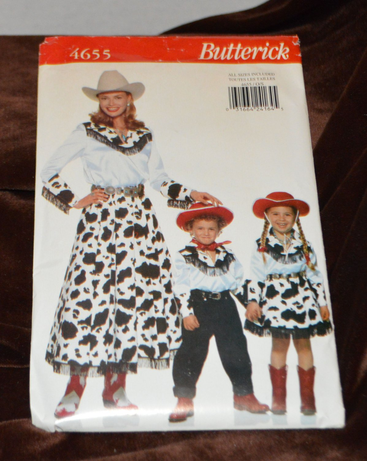 Butterick Sewing Pattern 4655 - Country Styling for the Whole Family All Sizes