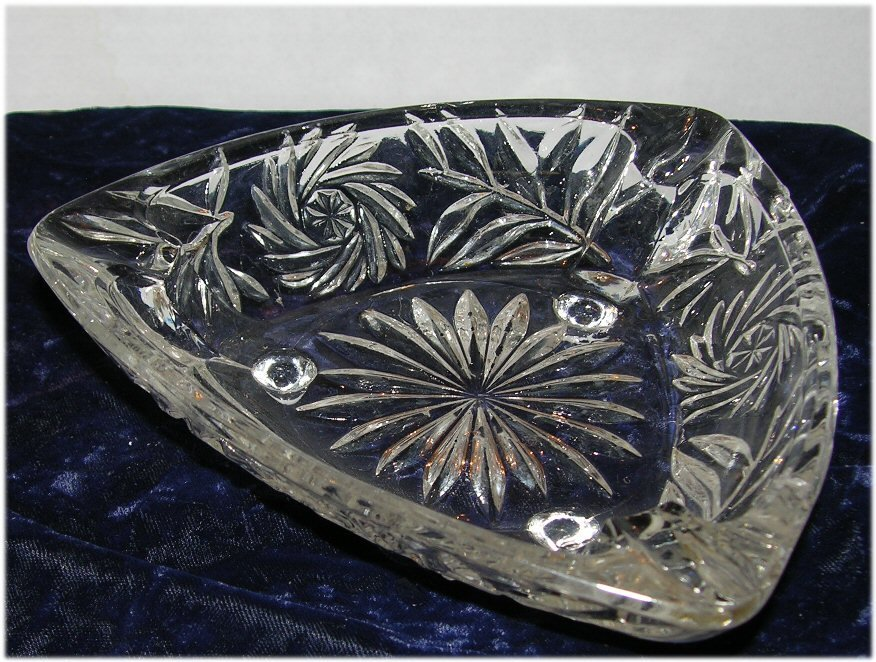 Beveled Cut Glass Crystal Ash Trays Use for Nuts Candies more...