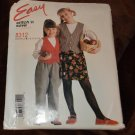McCall's 8312 Easy Stitch 'n Save Lined Vest Skirt Pants Girls Size B