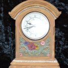 Sunrex Equity Quartz Clock Arched with Flowers made in Resin