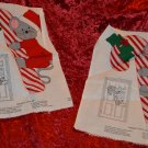2 Merry Mouse Door Hanging Decor Quilting Sweater Applique and more