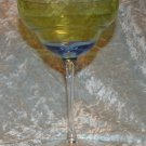 2 Blue Green Yellow Margarita Glass Moon Shadow