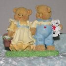 Love Bear Pair - Spring Easter Adorable display Bear Collector delight