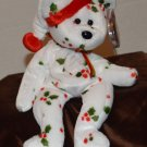 Ty Beanie Baby Happy Holiday Christmas Bear tush tag 1998 swing tag 1998