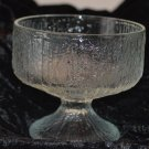 Indiana Crystal Clear Glass Textured Like Tree BarkPattern Wine Glass Goblet Ch