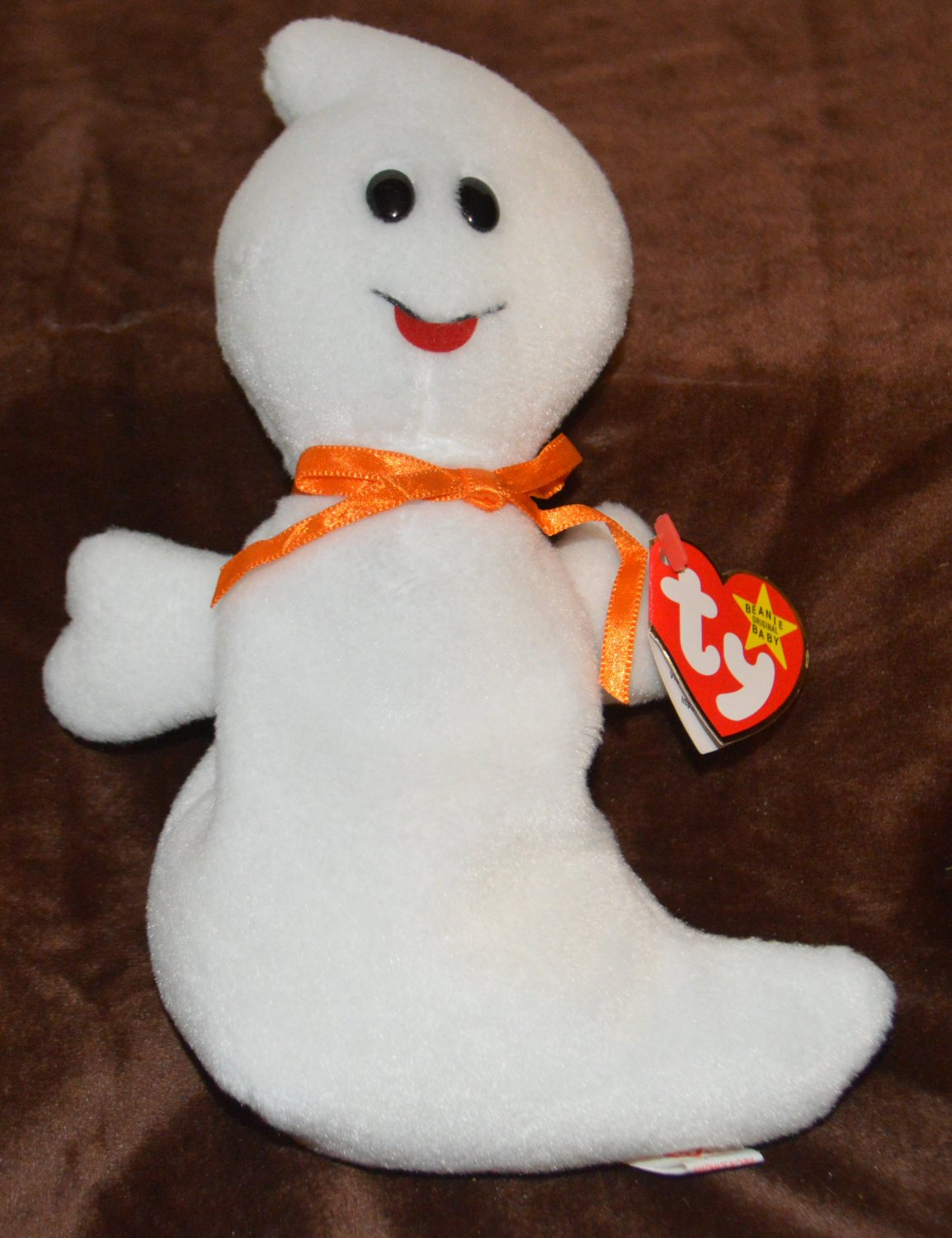 Ty Beanie Baby Spooky Ghost  tush tag 1995 swing tag 1995 4090