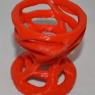 Easter or Every Day Hole Twisted Egg Holder 3D Printed PLA Red