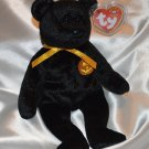 Ty Beanie Baby Halloween Haunt Bear tush tag 2001 swing tag 2000