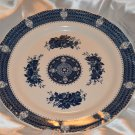 Harmony House Blue Royal Chop Plate Platter 12 inch Flowers & Designs