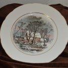 Avon Winter Grist Decorative or Dessert Plate Dish 1977