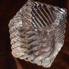 Square Swirled Glass Votive