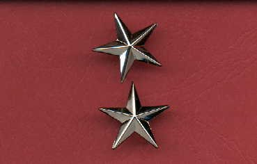 1. Pair of One Star General's rank Insignia