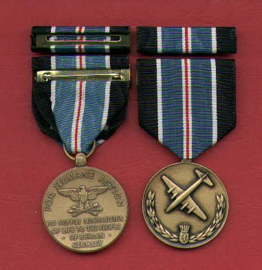 BERLIN AIRLIFT MEDAL WITH RIBBON BAR