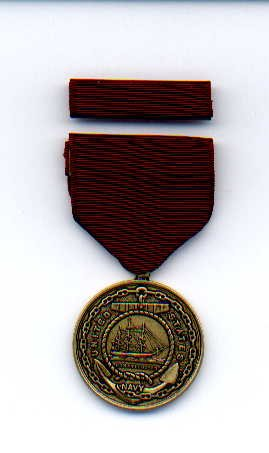US Navy Good Conduct medal with ribbon bar