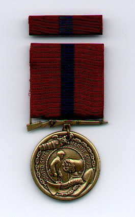 US Marine Corps Good Conduct medal with ribbon bar