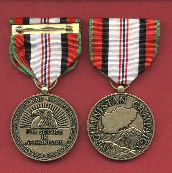 Afghanistan Campaign medal with ribbon bar