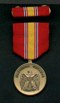 US National Defense medal with ribbon bar