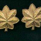 Pair of Major oak leaves rank insignia