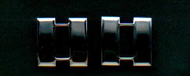 Pair of Captain Bars rank insignia