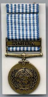 UN Korean Service medal with ribbon bar