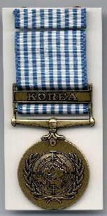 UN Korean Service medal with ribbon bar