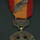 Vietnam Cross of Gallantry medal with ribbon bar and palm devices