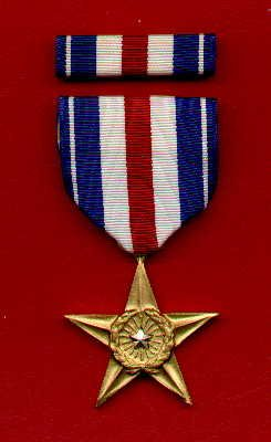 Silver Star medal with ribbon bar