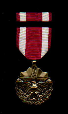 US Meritorious Service medal with ribbon bar