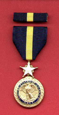 US Navy and Marine Distinguished Service Medal with ribbon bar