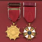 Legion of Merit medal with ribbon bar