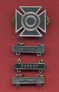 Sharpshooter Badge with three qualification bars
