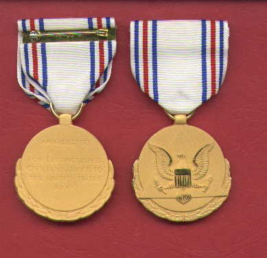US Army Distinguished Civilian Service medal