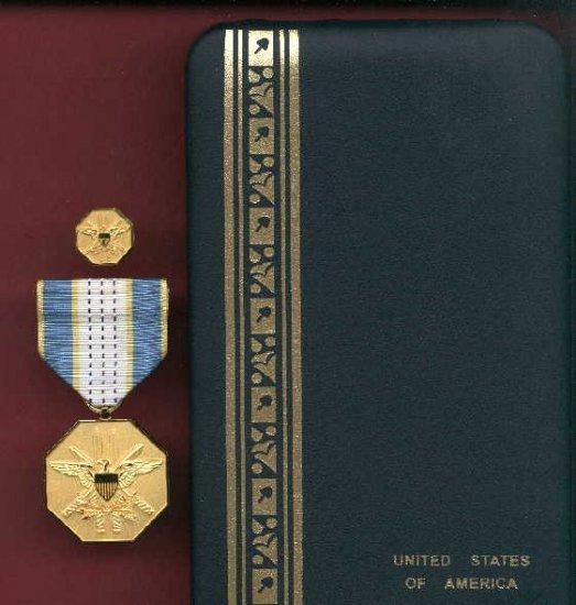 Joint Service Civilian Commendation medal cased set