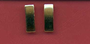 Pair of Ensign or 2nd LT Lieutenant rank insignia gold bars Navy and USMC