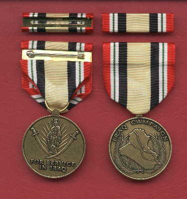 Iraq Campaign medal with ribbon bar