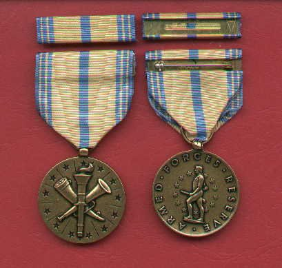 US Army Reserve medal with ribbon bar