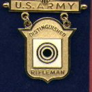 US Army Distinguished Rifleman badge in gold