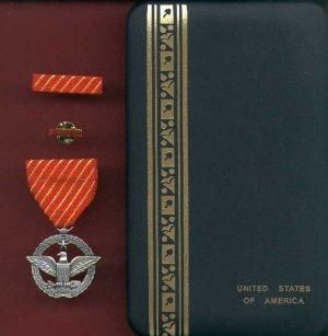 NEW US Air Force Combat Action  medal in case with ribbon bar