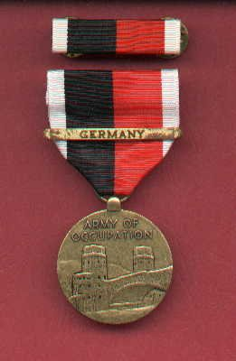 Army of Occupation medal with GERMANY bar and ribbon bar