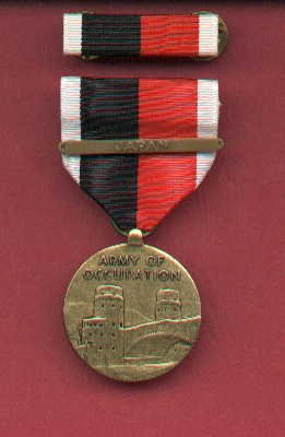 Army of Occupation medal with JAPAN bar and ribbon bar