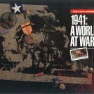 1941 World at War Hardbound book with stamps, etc.  Great Gift