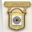 USAF Air Force Distinguished Pistol Shot badge in gold